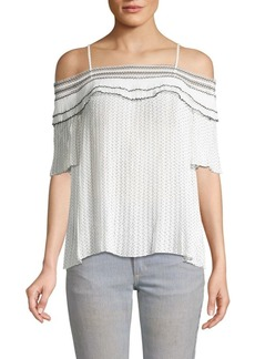Endless Rose Off-The-Shoulder Pleated Top