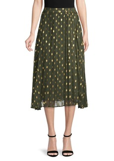 Endless Rose Pleated Polka Dot Skirt