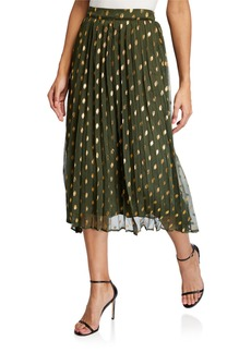 Endless Rose Polka Dot Pleated Skirt