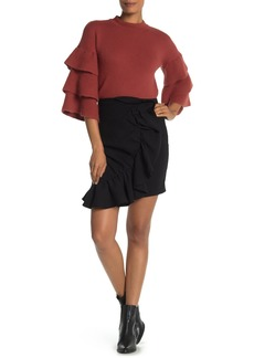 Endless Rose Ruffled Flounce Asymmetrical Skirt