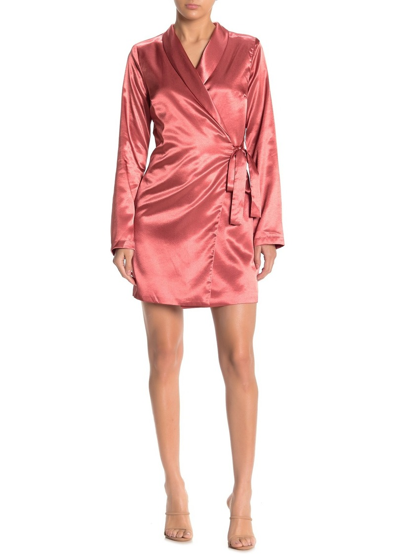 Endless Rose Satin Wrap Jacket Dress