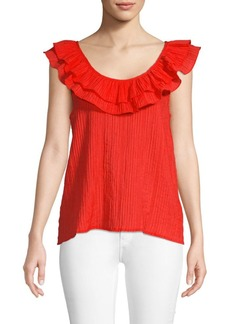 Endless Rose Scoop-Neck Flounce Top
