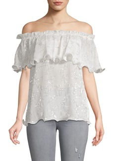 Endless Rose Sequin Chiffon Top