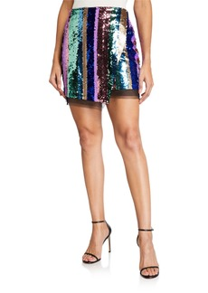 Endless Rose Sequined Faux-Wrap Mini Skirt