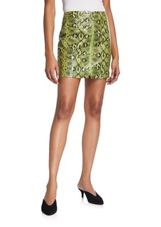 Endless Rose Snake Skin Zip Front Mini Skirt