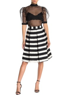 Endless Rose Striped Midi A-Line Skirt