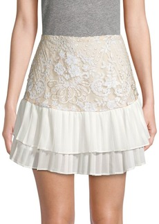 Endless Rose Tiered Sequin Embroidery Skirt