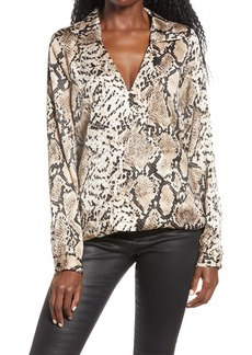 Women's Endless Rose Snakeskin Wrap Shirt
