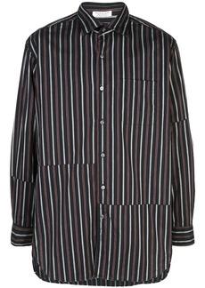 Engineered Garments asymmetric stripe shirt