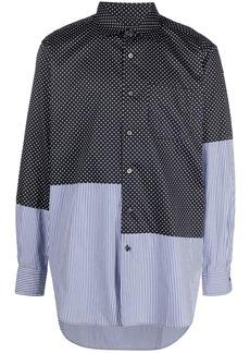 Engineered Garments asymmetrical-patchwork cotton shirt