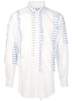 Engineered Garments striped fringed detail shirt
