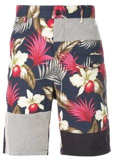 Engineered Garments Hawaiian floral java print shorts