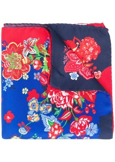 Engineered Garments silk floral pocket square scarf
