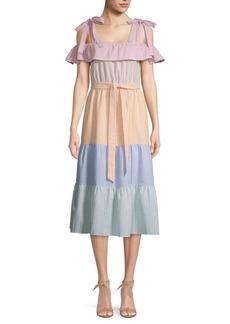 English Factory Colorblock Cotton Dress