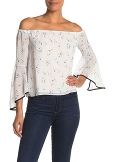 English Factory Daisy Floral Off-The-Shoulder Blouse