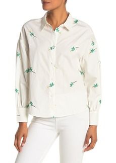 English Factory Embroidered Daisy Dolman Shirt