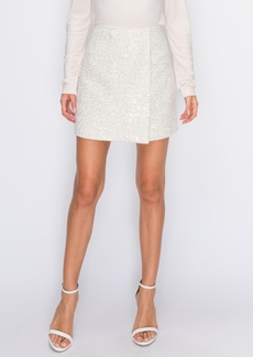 English Factory Button Down Tweed Skirt