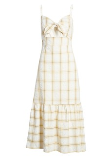 English Factory Check Print Maxi Dress