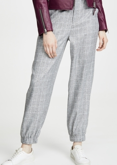 ENGLISH FACTORY Checkered Jogger Pants