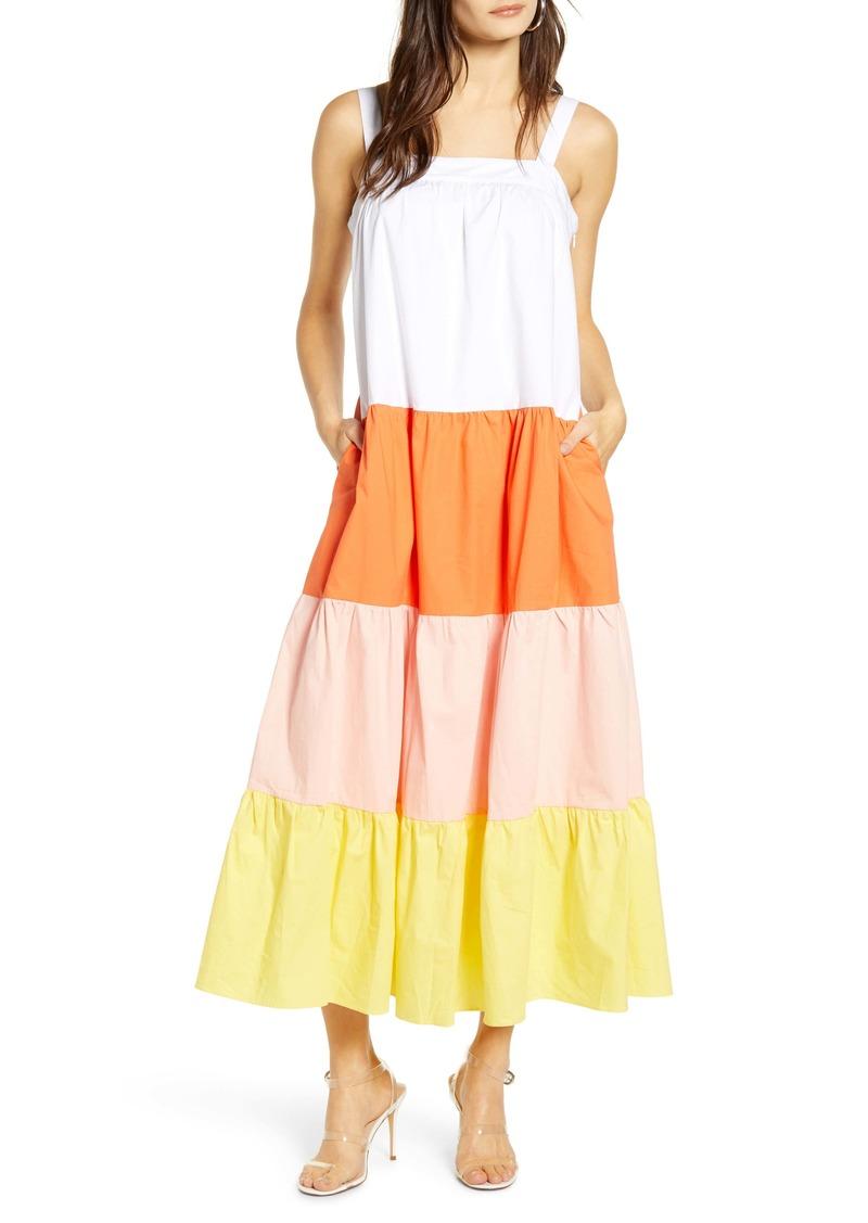 English Factory Colorblock Maxi Dress
