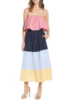 English Factory Colorblock Maxi Dress