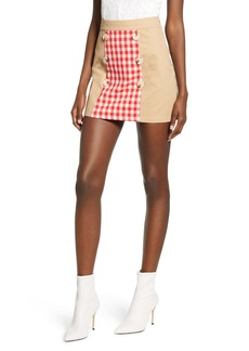 English Factory Contrast Gingham Miniskirt