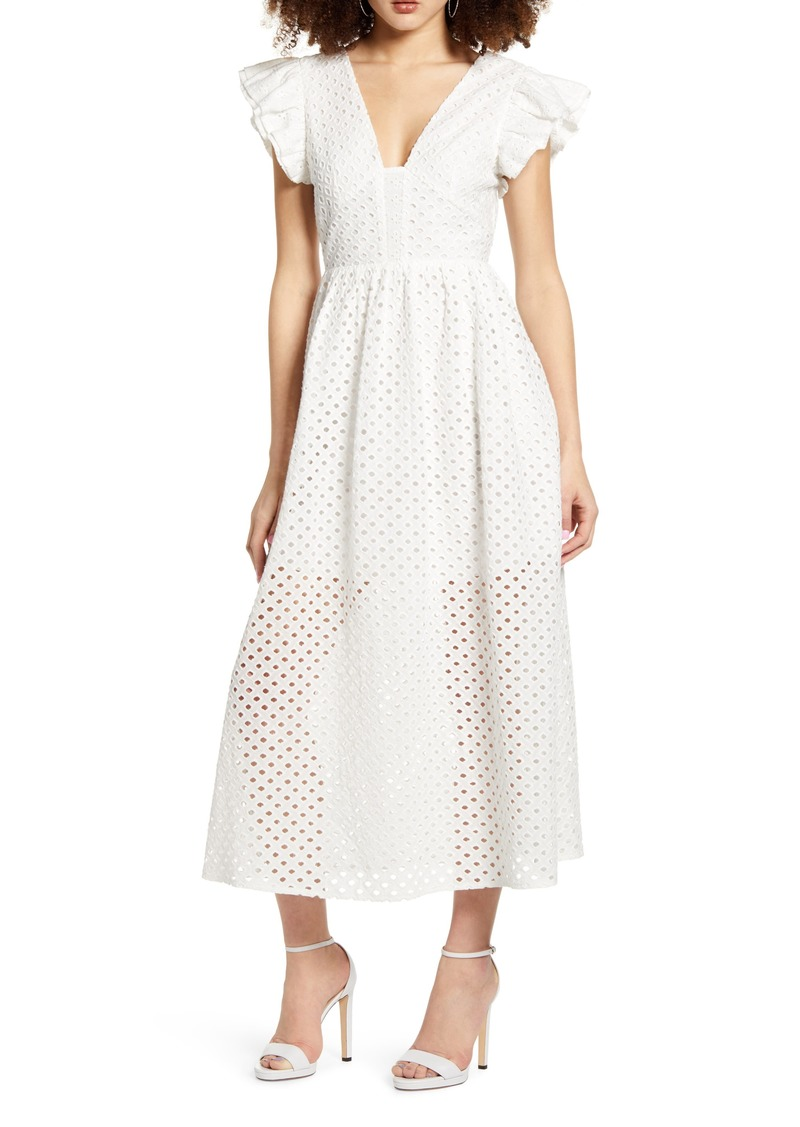 English Factory Cotton Eyelet Midi Dress