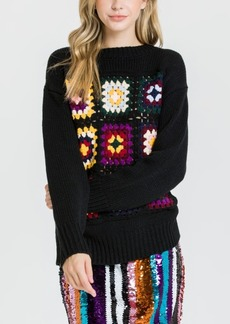 English Factory Crochet Motif Sweater