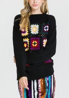 English Factory Crochet Motif Sweater