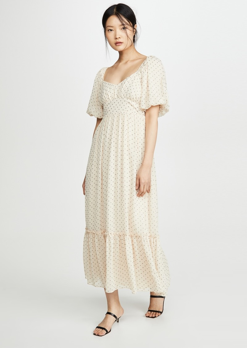 ENGLISH FACTORY Empire Maxi Puff Sleeve Dress