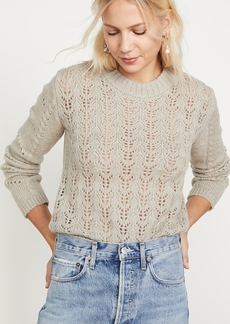 ENGLISH FACTORY Fuzzy Knit Sweater