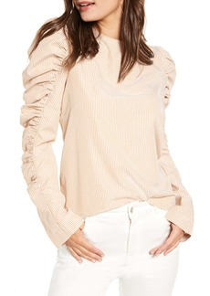 English Factory Gathered Puff Sleeve Top