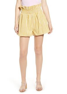 English Factory Gingham Paperbag Waist Shorts