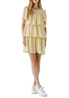 English Factory Gingham Tiered Dress