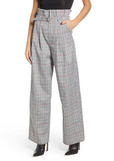 English Factory High Waist Plaid Pants