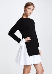 ENGLISH FACTORY Knit Combo Dress