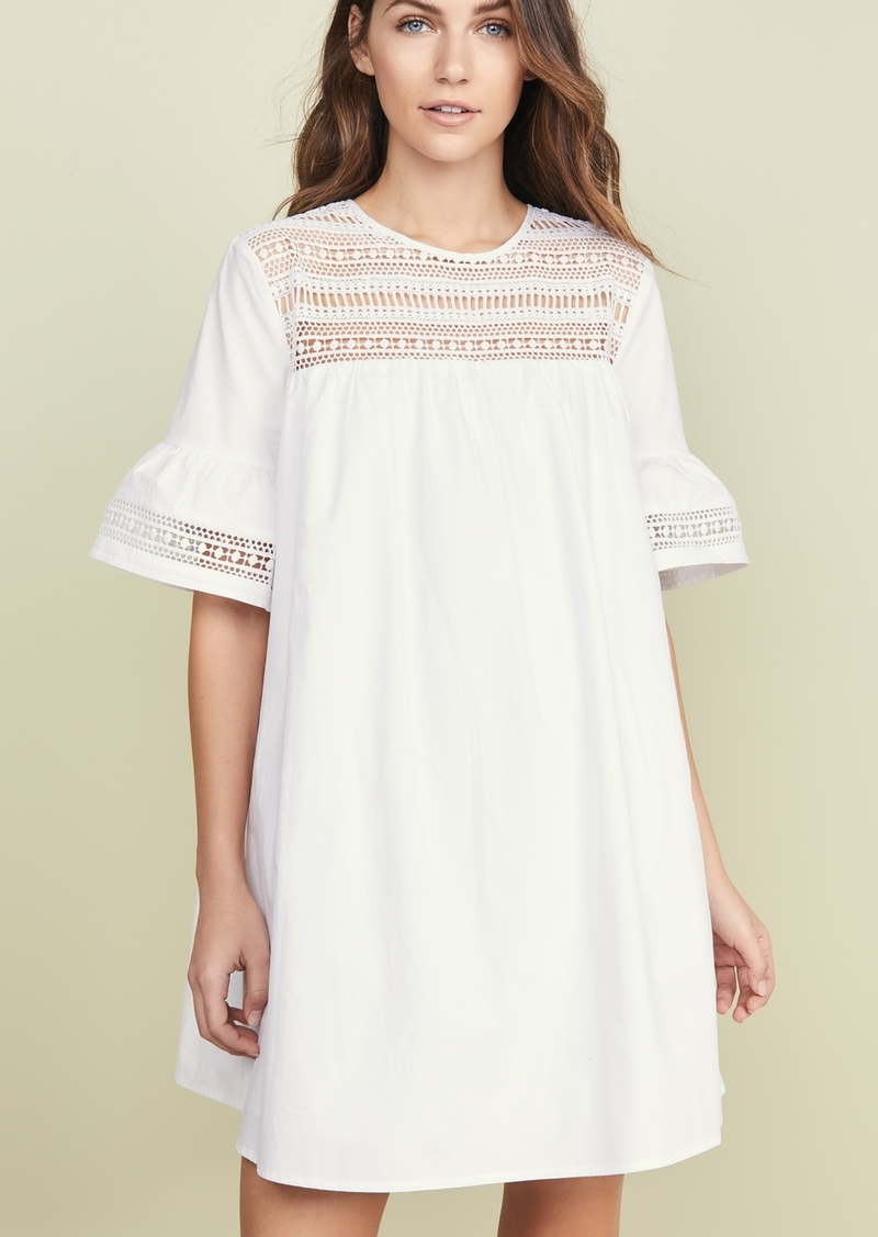 ENGLISH FACTORY Lace Trim Dress