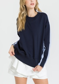 English Factory Long Sleeve Knit Top with Stripe Shirts