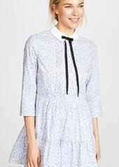 ENGLISH FACTORY Long Sleeve Pleated Dress