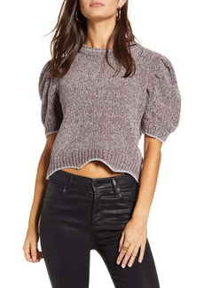 English Factory Metallic Chenille Crop Sweater