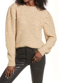 English Factory Metallic Puff Shoulder Sweater