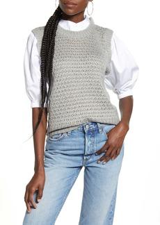 English Factory Mixed Media Sweater