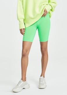 ENGLISH FACTORY Neon Green Bike Shorts