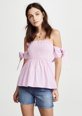 ENGLISH FACTORY Off Shoulder Top with Smocking