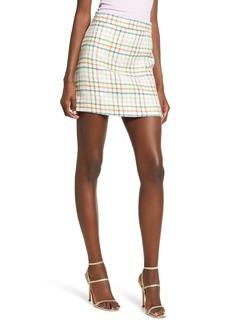 English Factory Plaid Miniskirt
