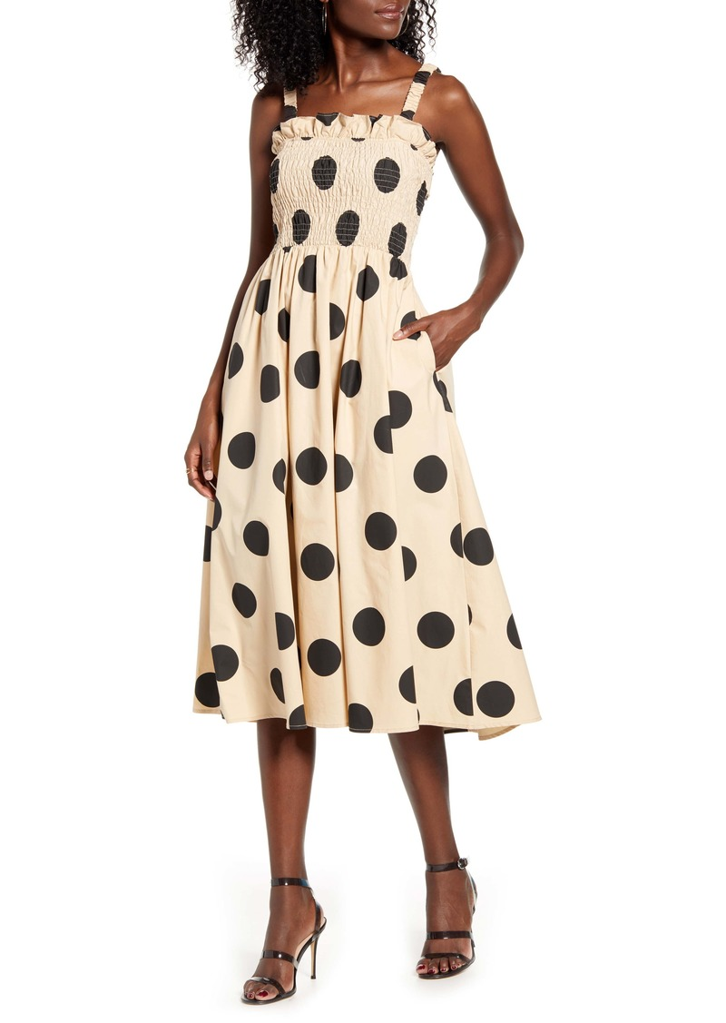 English Factory Polka Dot Cotton Sundress