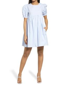 English Factory Puff Sleeve Cotton Babydoll Dress