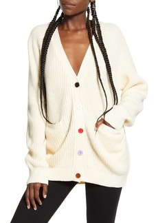 English Factory Rainbow Button Cardigan