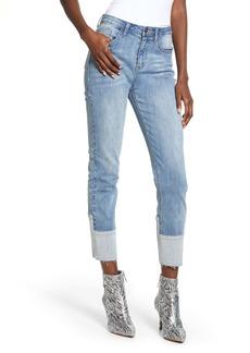 English Factory Raw Hem Crop Skinny Jeans
