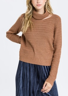 English Factory Ribbed Neckband Knit Top